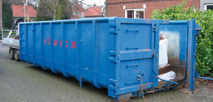 Container huren grond